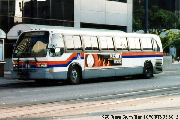Orange County Transit GMC/RTS 3012 @ Long Beach Transit Mall....Photo provided by Mr Salmon