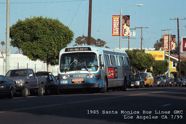 1985 GMC 5148 Northbound Main St & Sunset Av ... Venice CA