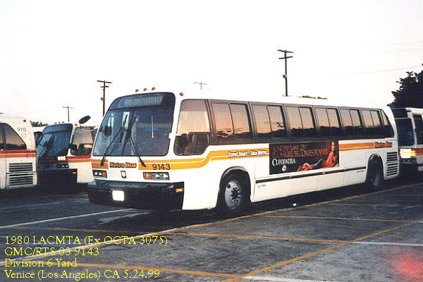 1980 Ex Orange County Transit GMC/RTS 03 3075 now LACMTA 9143 ....Division 6